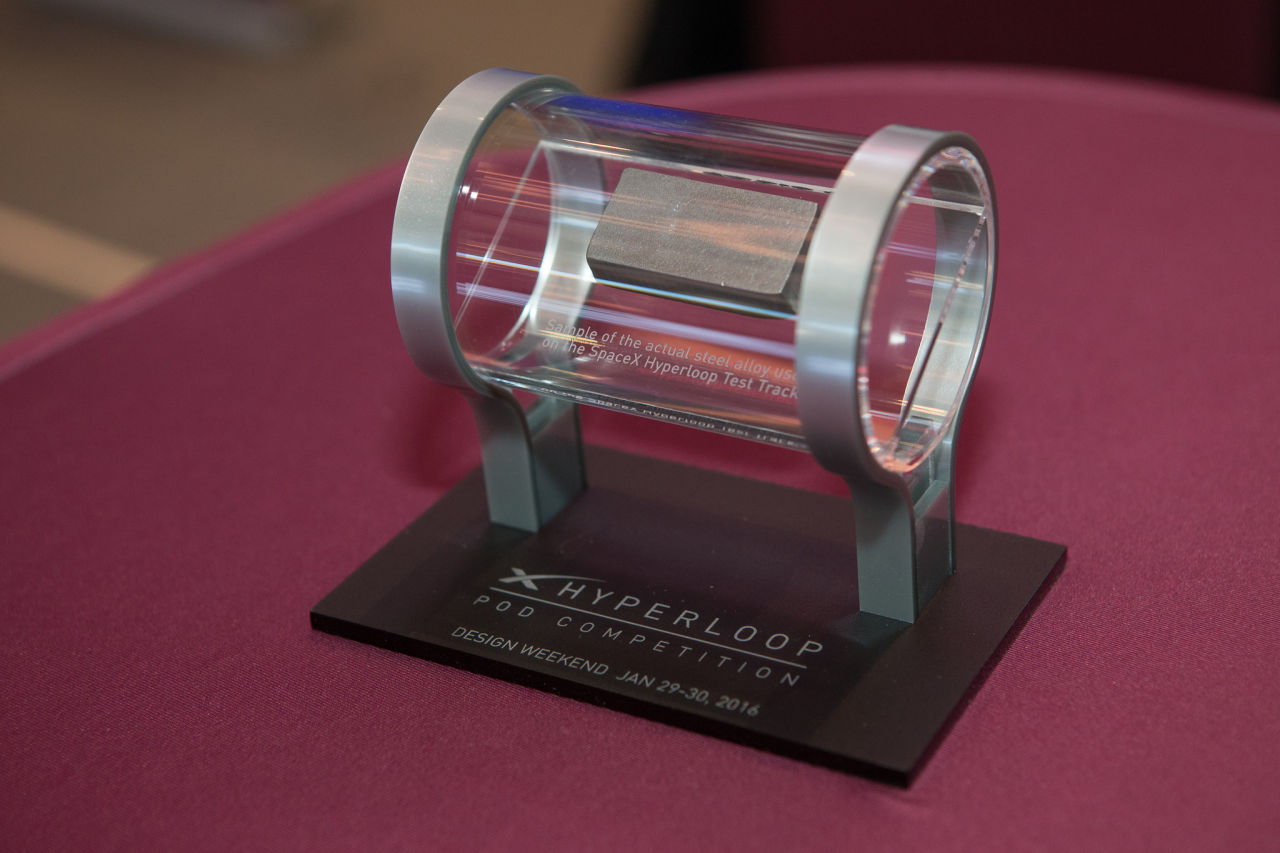 A team of engineering students from MIT took home first prize in a competition to design a Hyperloop prototype. (Texas A&M Engineering/Flickr)