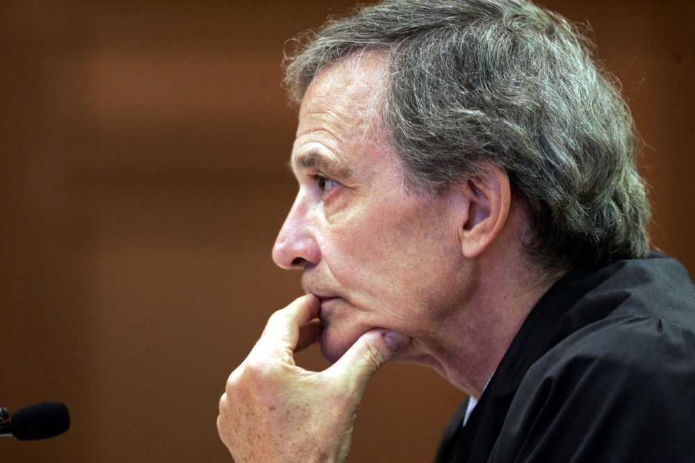 Massachusetts Supreme Judicial Court Justice Francis Spina is seen  during a hearing in 2006. (Chitose Suzuki/AP)