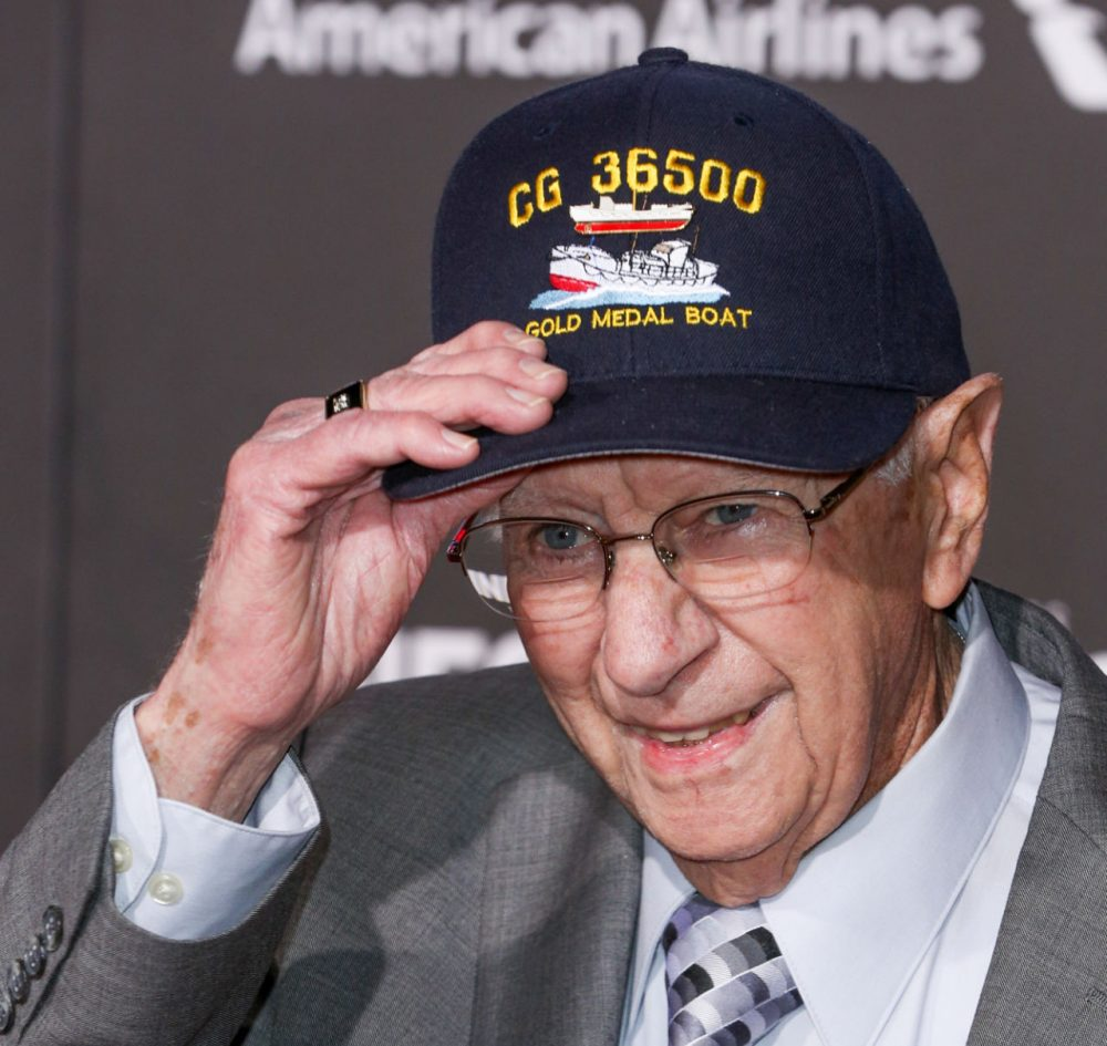 Andy Fitzgerald was a junior engineer on the Coast Guard craft that rescued the tanker S.S. Pendleton in 1952. (Rich Fury/Invision/AP)