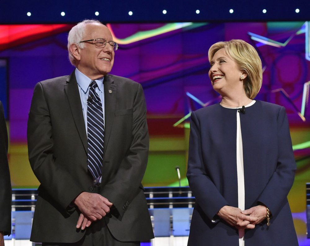 In New Hampshire, Bernie Sanders, a senator from next-door Vermont, has a lead in polling over his Democratic rival, Hillary Clinton. (David Becker/AP)