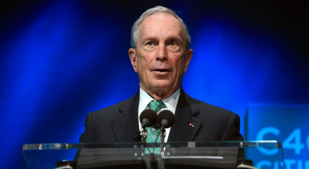In this Dec. 3, 2015, file photo, former New York Mayor Michael Bloomberg speaks during the C40 cities awards ceremony, in Paris. Bloomberg is taking some early steps toward launching a potential independent campaign for president. That's according to three people familiar with the billionaire media executive's plans. They spoke on condition of anonymity because they weren't authorized to speak publicly for Bloomberg. (Thibault Camus/ AP)