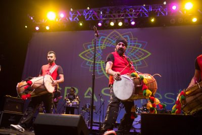 The Dhol Foundation performs at CRASHfest on Jan. 24. (Marisa Bettencourt)
