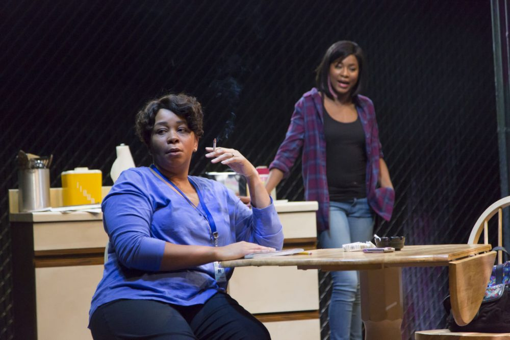 "Ramona Lisa Alexander and Jasmine Carmichael in ""Milk Like Sugar."" (Courtesy T. Charles Erickson/Huntington Theatre)"
