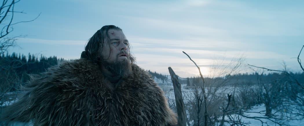 "Leonardo DiCaprio as Hugh Glass in ""The Revenant.""  Both DiCaprio and the film are nominees. (Courtesy Twentieth Century Fox via AP)"