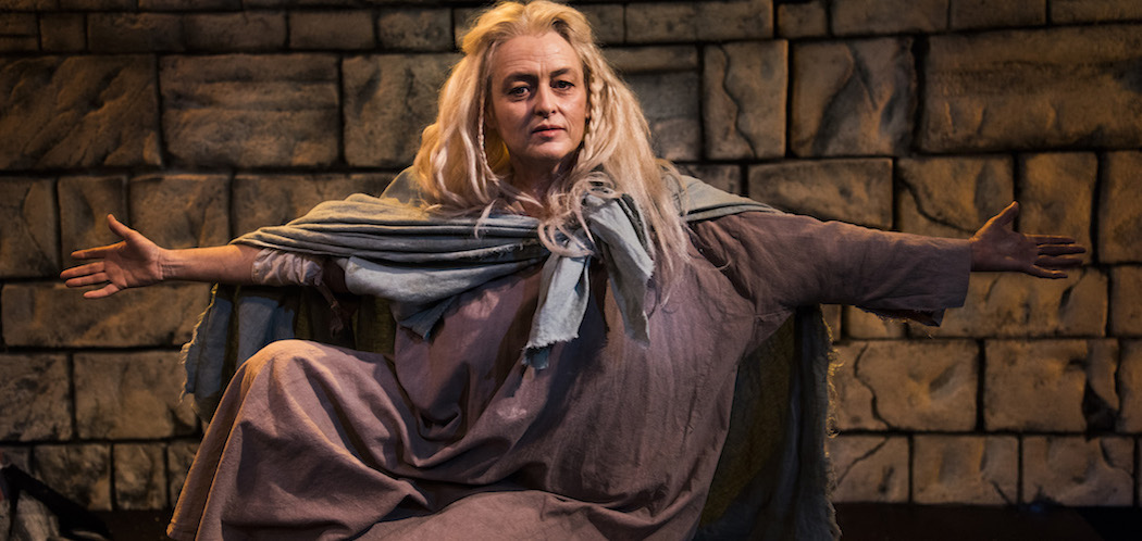 "Paula Langton in ""The Testament of Mary."" (Courtesy Andrew Brilliant/New Rep)"