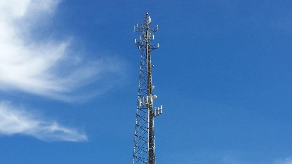 A cell tower in California. (Flicker Creative Commons)