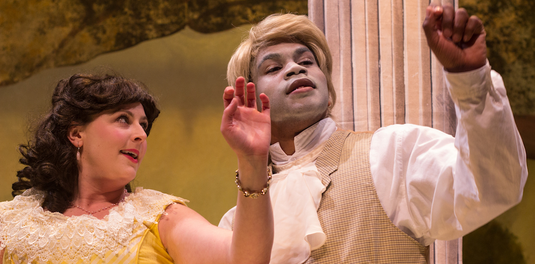 "Bridgette Hayes and Brandon Green in ""An Octoroon."" (Courtesy Paul Fox/Company One Theatre)"