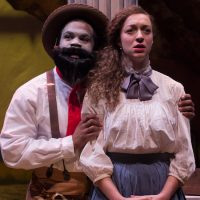"Brandon Green and Shawna M. James in Company One's ""An Octoroon"" at ArtsEmerson. (Courtesy Paul Fox/Company One Theatre)"