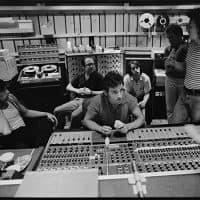 "Bruce Springsteen (center) working on recording his 1980 album ""The River."" (Joel Bernstein)"