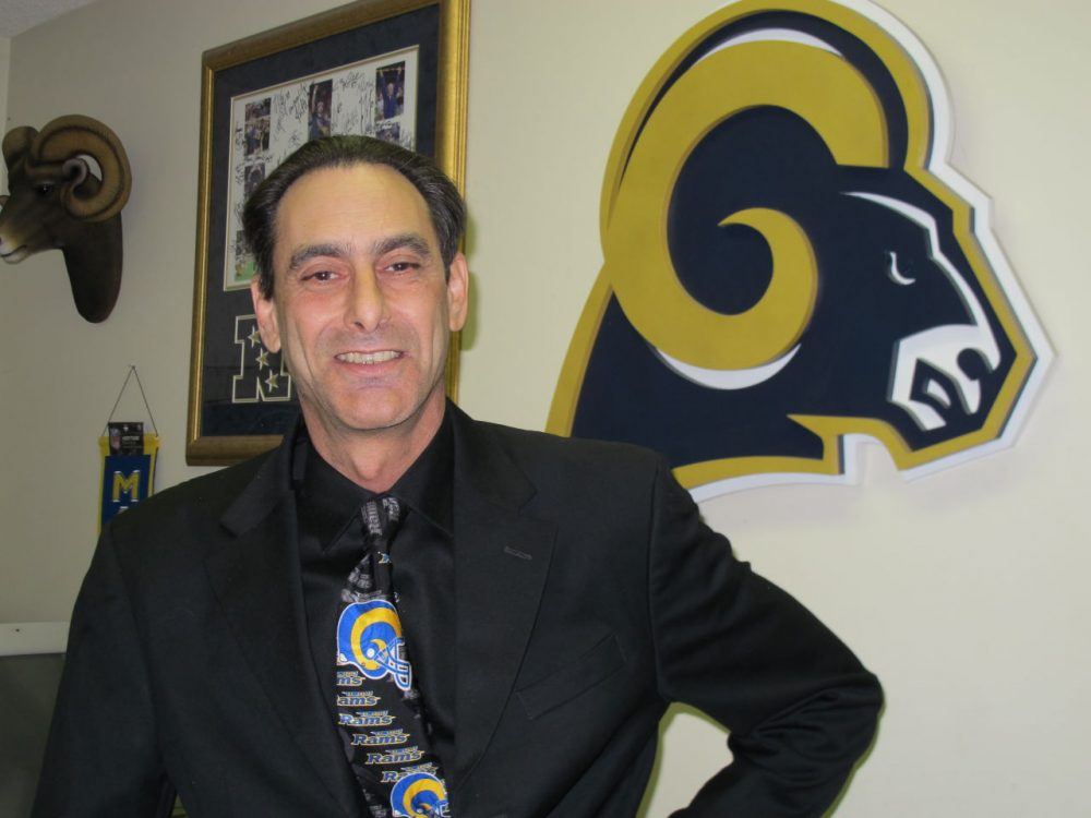 """The one thing I learned about the Rams,"" says Andrew Kulick,"" is nothing ever comes easy. So, you know, if you're going to win the game, it's going to be on the last play."" (Susan Valot/Only A Game)"