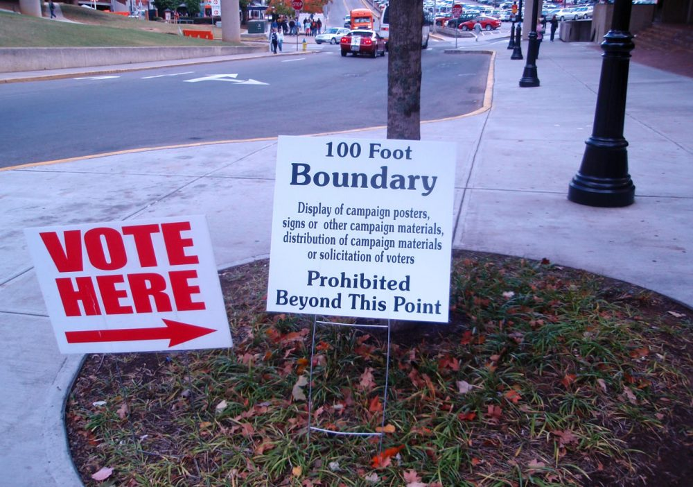 A polling place in Knoxville, Tennessee is pictured in 2008. (Joel Kramer/Flickr)