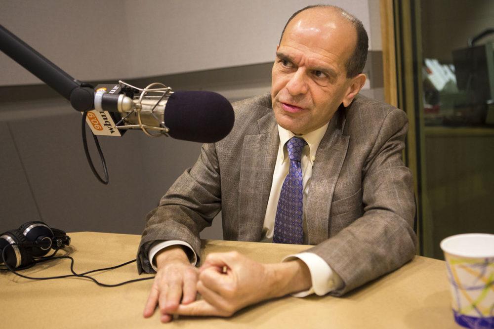 Attorney Mitchell Garabedian in the WBUR studios earlier this month (Jesse Costa/WBUR)