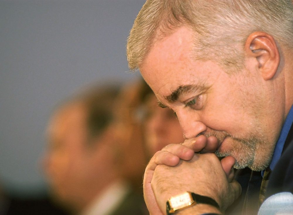 Jim Wallis, pictured here in 2003, is president and founder of the Christian social justice group Sojourners.  (Graeme Robertson/Getty Images)