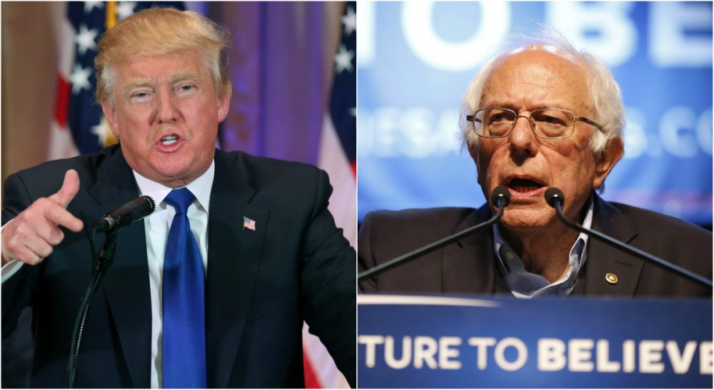 Tom Keane: For both parties, the story of this election so far has been a story of voter anger and distrust -- a potent and growing phenomenon. Donald Trump has tapped into it perfectly. But so too has Bernie Sanders. (Both photos/AP)