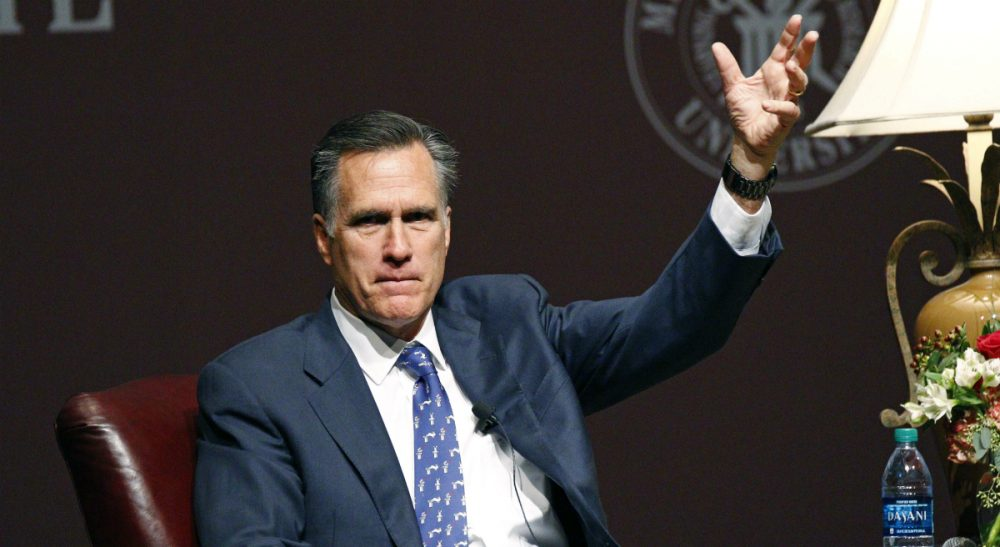 Former GOP presidential candidate Mitt Romney pictured in Starkville, Miss., Wednesday, Jan. 28, 2015. (Rogelio V. Solis/AP)