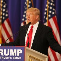 Republican presidential candidate Donald Trump speaks during a press conference at the Trump National Golf Club Jupiter on March 8, 2016 in Jupiter, Florida. Trump is projected to win the Republican Presidential primaries in Mississippi and Michigan.  (Joe Raedle/Getty Images)
