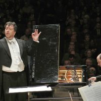 """Adès leads the BSO in his own """"In Seven Days"""" for piano and orchestra, featuring Kirill Gerstein. (Stu Rosner/Courtesy Boston Symphony Orchestra)"""
