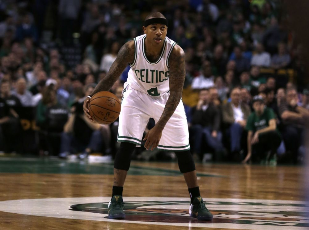 Celtics guard Isaiah Thomas during the first quarter of a game at the Garden, Wednesday, March 9, 2016. (Charles Krupa/AP)
