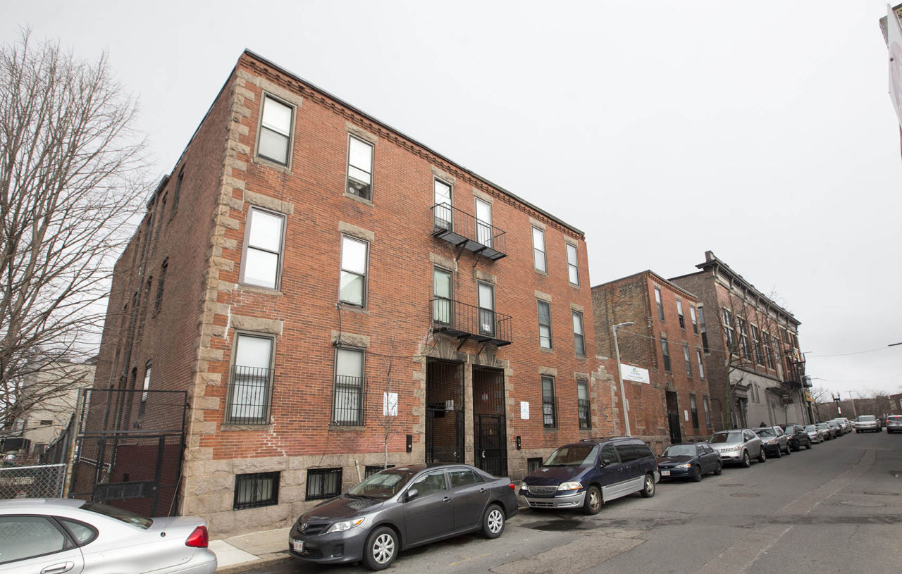 """Felicha Young lives at 15 Ruggles Street and is currently facing eviction. She is one of many Bostonians housing advocates seek to protect by calling for a """"just cause"""" evictions ordinance in the city. (Joe Difazio for WBUR)"""