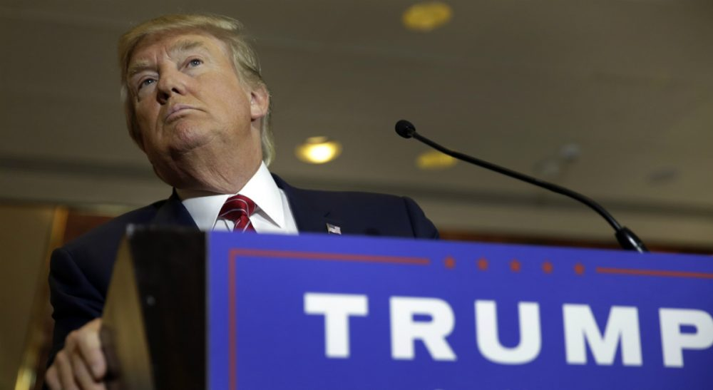 Republican presidential candidate Donald Trump is pictured on Sept. 3, 2015. (Richard Drew/AP)