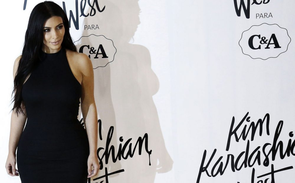Kim Kardashian West poses for pictures before launching her collection for Brazil's C&A brand on May 11, 2015 in Sao Paulo, Brazil. (Miguel Schincariol/AFP/Getty Images)