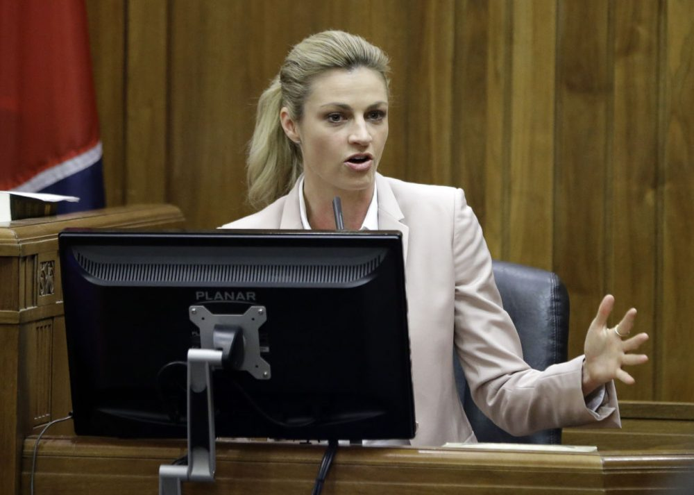 Erin Andrews was awarded $55 million in her civil suit against the franchise owner and manager of a luxury hotel and a man who admitted to making secret nude recordings of her in 2008. Andrea Kremer says female sportscasters still face dangers on the road. (Mark Humphrey/AP)