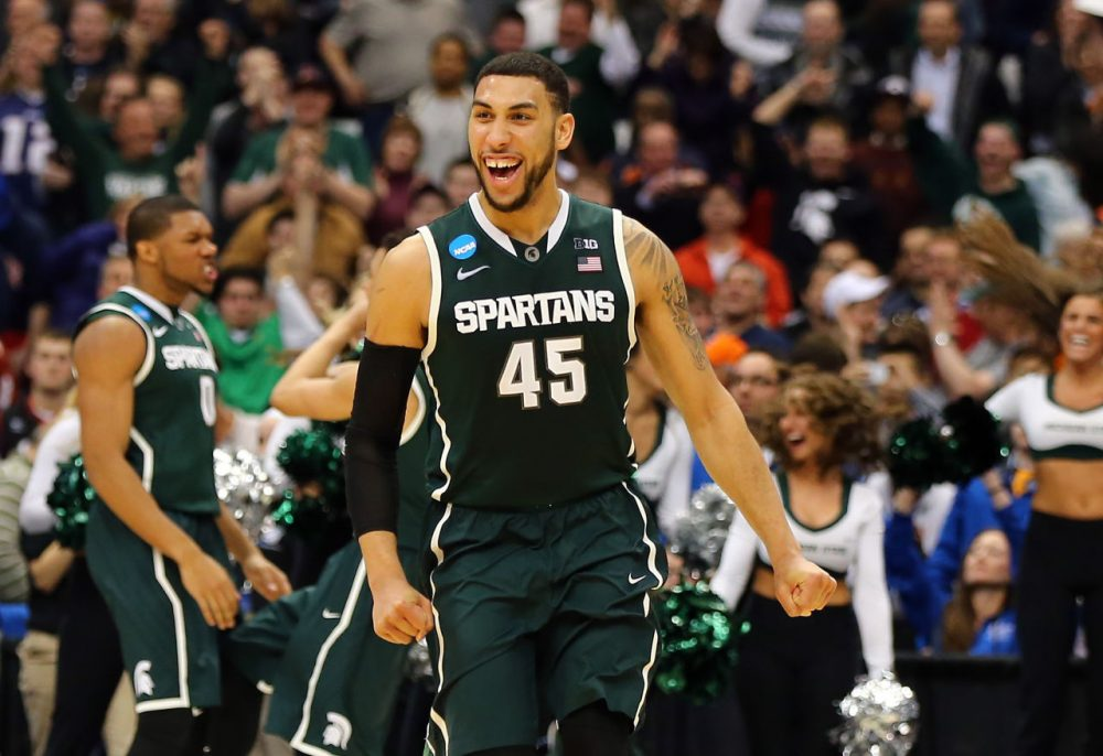 Andy Bottoms admits that he's far better at predicting the NCAA Tournament field rather the eventual champion. Still, he's picking Denzel Valentine and Michigan State. (Elsa/Getty Images)