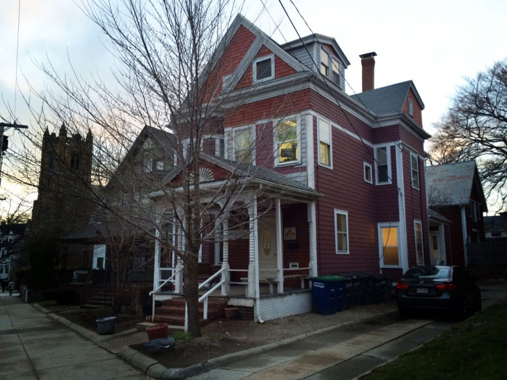 The Red House at 78 College Ave. in Somerville. (Qainat Khan/WBUR)