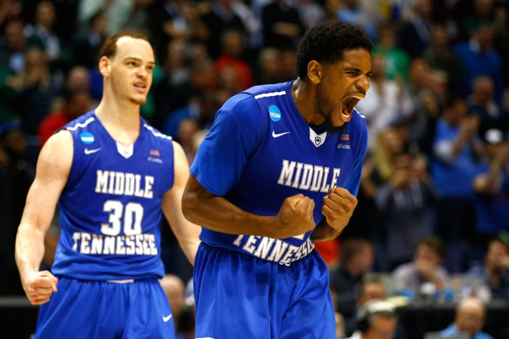 Middle Tennessee pulled off a big upset win over Michigan State during the first round of the 2016 NCAA Tournament. Is March Madness the best sporting event? (Photo by Jamie Squire/Getty Images)