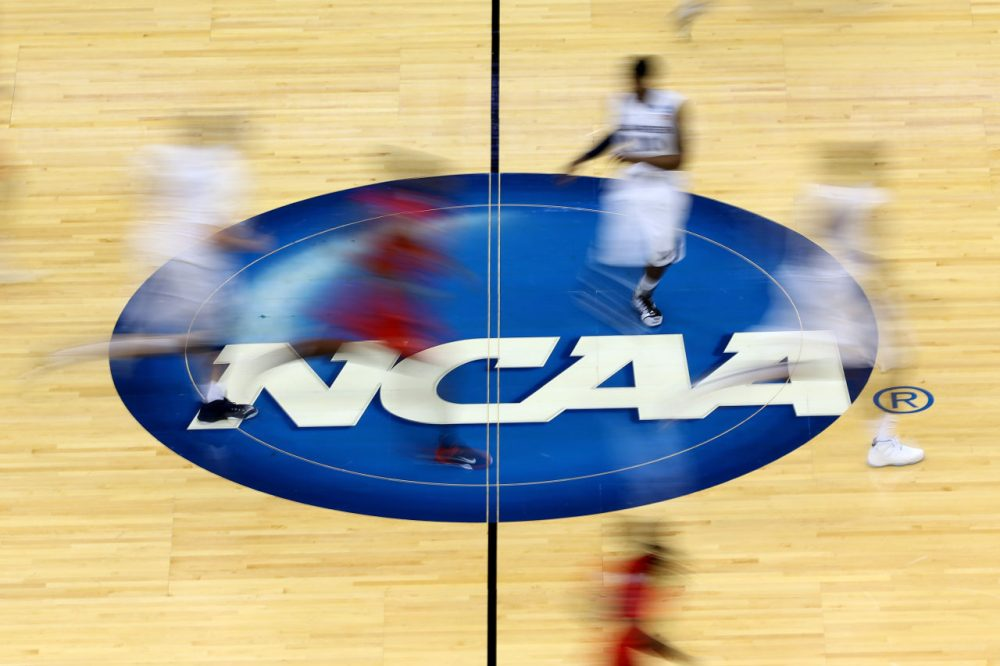 "The NCAA refers to its players as ""student-athletes."" Author Joe Nocera thinks that's a term that needs a closer look. (Mike Ehrmann/Getty Images)"