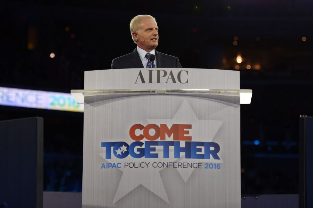 Howard Kohr, CEO, AIPAC (American Israel Public Affairs Committee) speaks at the start of the AIPAC 2016 Policy Conference on March 20, 2016 in Washington, D.C. (Molly Riley/AFP/Getty Images)