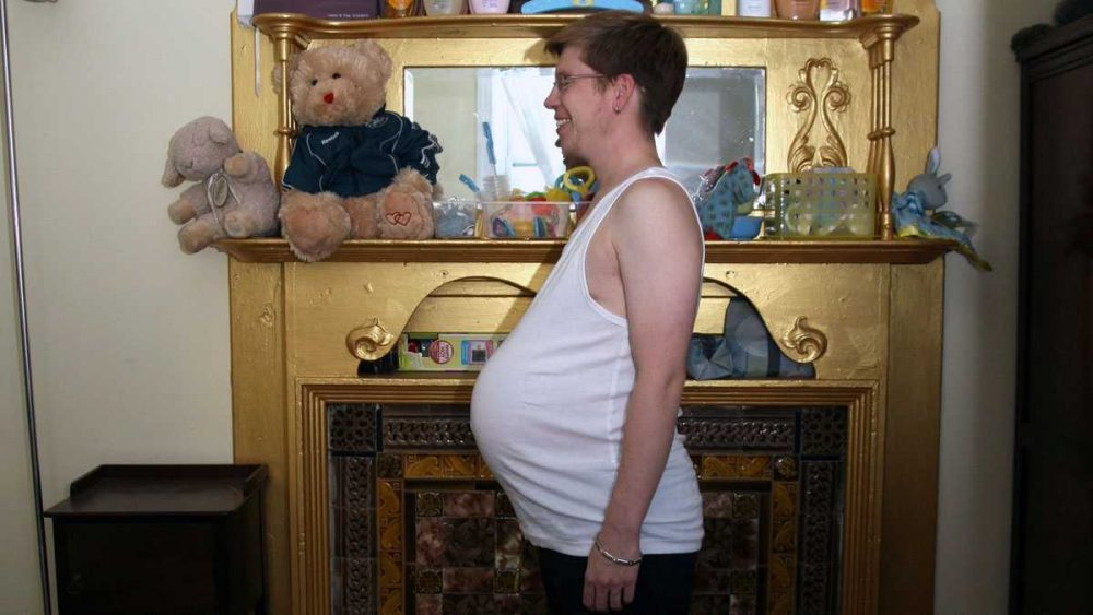 Junior Brainard is a transgender man who carried a baby with his partner, Tina Montgomery, who is a transgender woman. (Courtesy of Junior Brainard and Tina Montgomery)