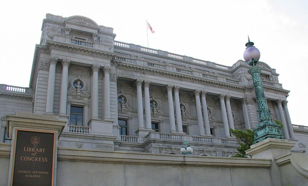 The front facade of the U.S. Library of Congress in Washington, D.C.  (Karen Bleier/AFP/Getty Images)