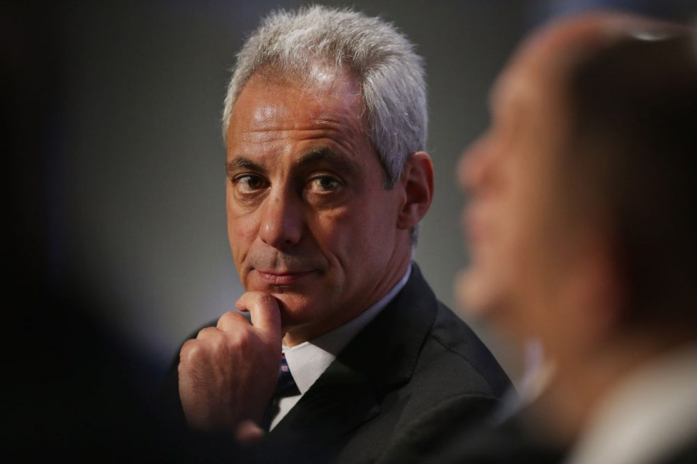 Chicago Mayor Rahm Emanuel participates in a panel discussion during the U.S. Conference of Mayors 84th Winter Meeting at the Capitol Hilton January 20, 2016 in Washington, D.C. Emanuel talked about his experience during the recent upsurge in violence Chicago during the discussion about reducing violence and reinforcing trust between police and the community.  (Chip Somodevilla/Getty Images)