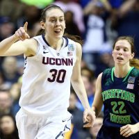 Breanna Stewart and UConn are odds-on favorites to win a fourth-straight NCAA title. Some have suggested that the Huskies are too good for the game.  (Andy Lyons/Getty Images)