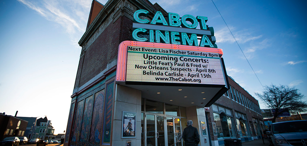 The Beverly community banded together to save The Cabot theater. (Jesse Costa/WBUR)