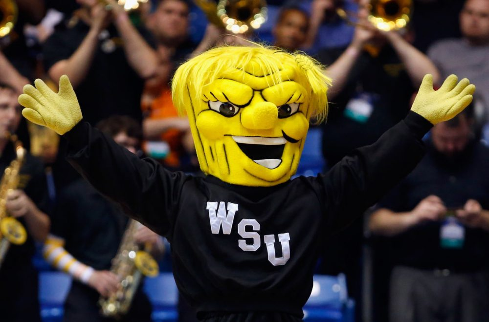 Wichita State's WuShock has been the face of the university for over 60 years.  (Gregory Shamus/Getty Images)