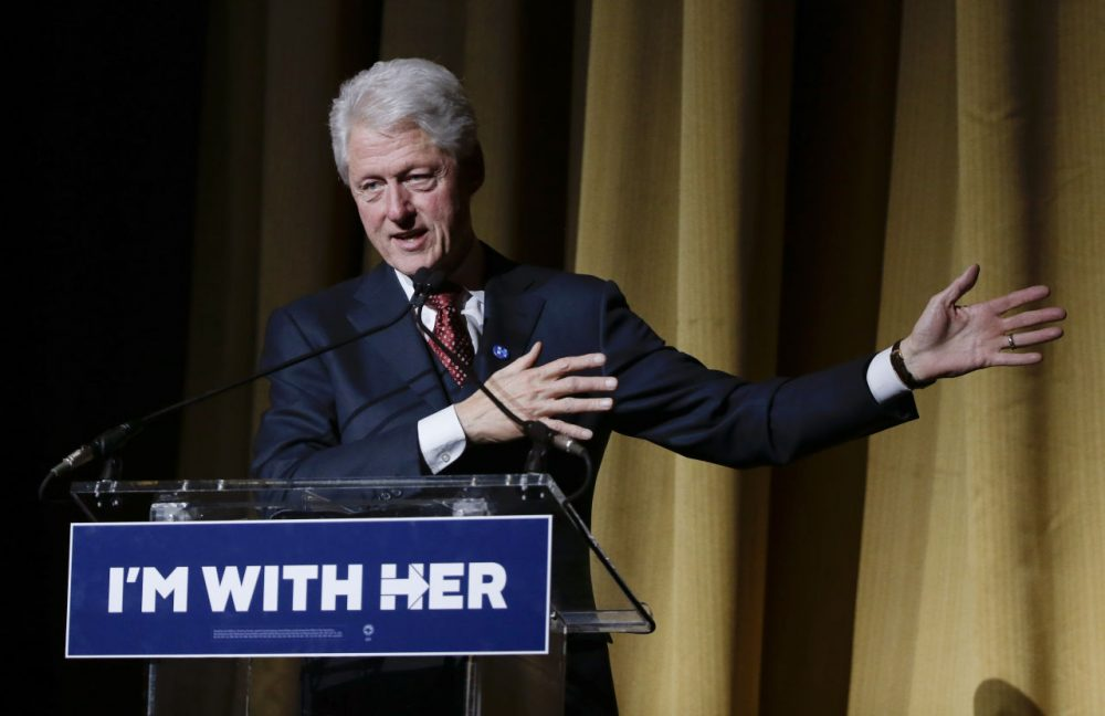"Former President Bill Clinton speaks during a ""Hillary Victory Fund: I'm with Her"" benefit concert March 2 in New York. (Julie Jacobson/AP)"