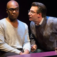 """Maurice Emmanuel Parent and John Kuntz in """"Bootycandy."""" (Courtesy Glenn Perry Photography/SpeakEasy Stage Company)"""