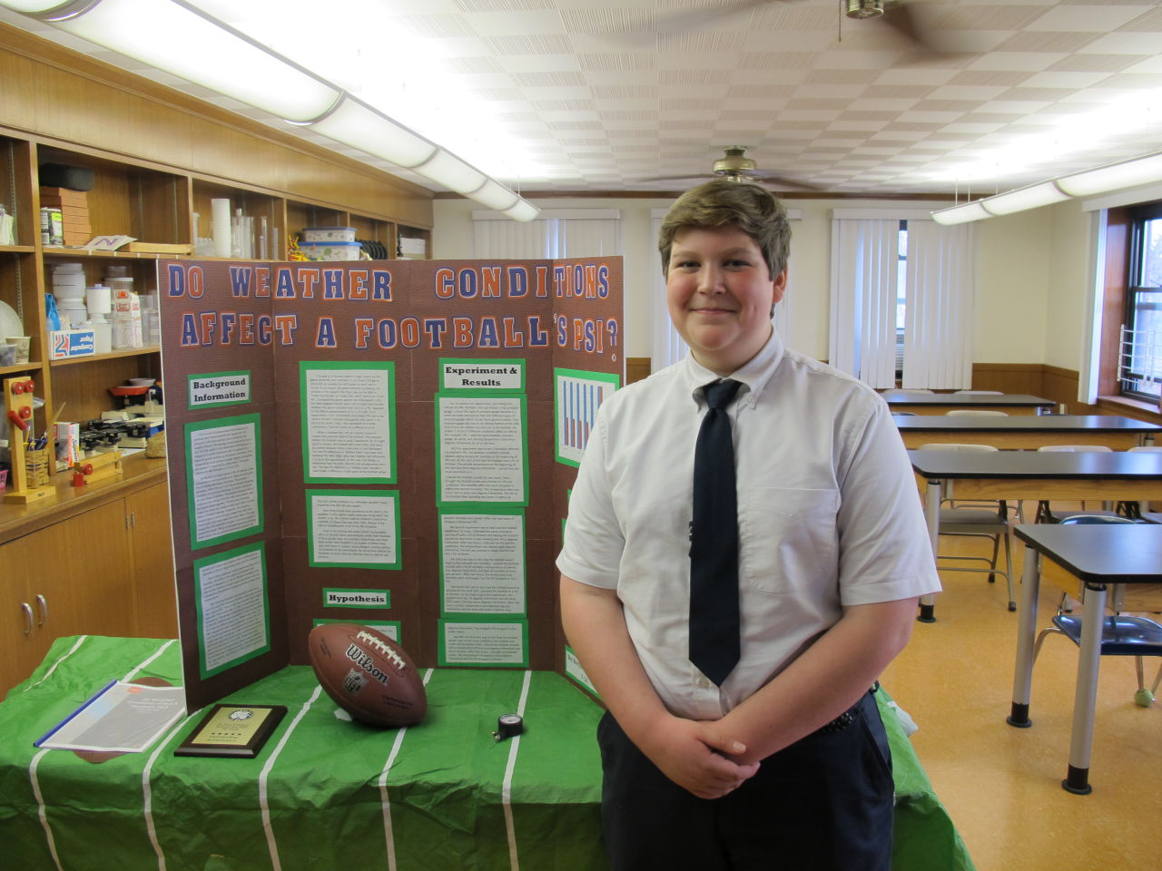 In Deflategate Science Fair Project 7th Grader Takes On Nfl Only