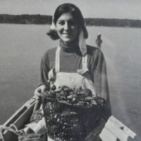 The author, bay scalloping in East Hampton in October, 1982. (Author/Courtesy, Francis Lester)