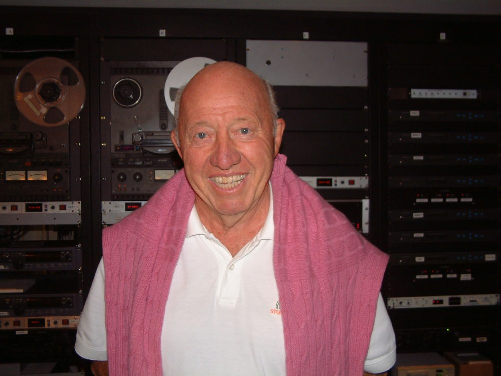 Bud Collins during one of his visits to the Only A Game studios. (Only A Game)