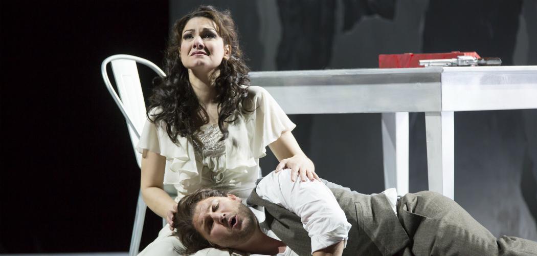 "Sandra Piques Eddy and Alex Richardson in Boston Lyric Opera's ""Werther."" (Courtesy T. Charles Erickson)"