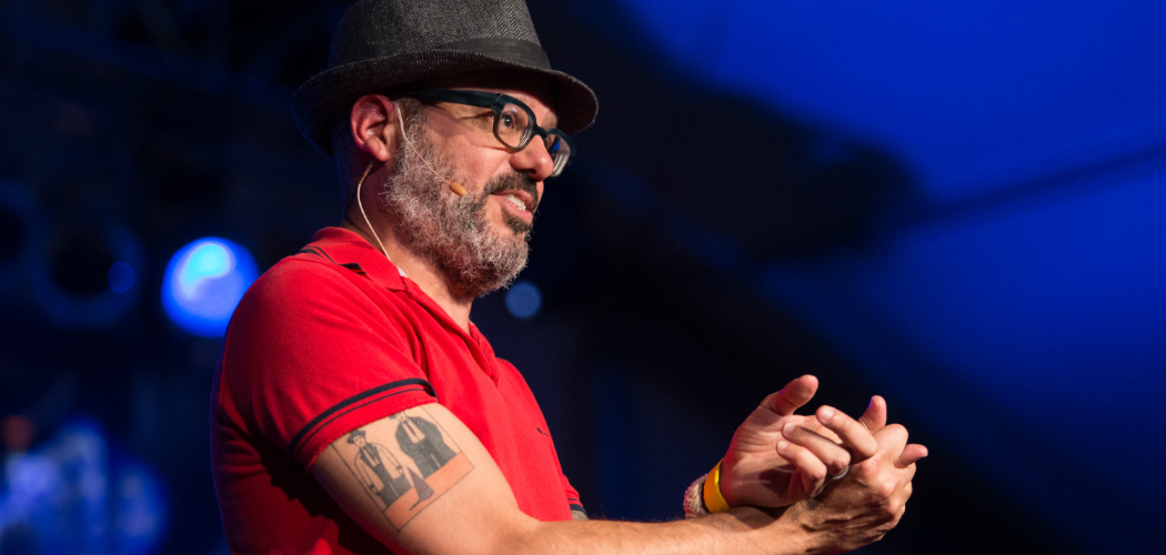 David Cross performs on stage during Festival Supreme at the Santa Monica Pier, on Saturday, October 19, 2013, in Santa Monica, California. (Courtesy Paul A. Hebert/AP)