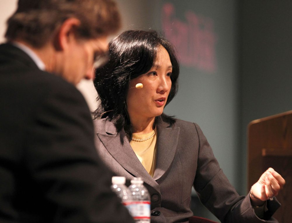 Michelle Lee, director, U.S. Patent and Trademark Office, discusses the opening of the first USPTO office in Silicon Valley at SanDisk's world headquarters in 2013.(Tony Avelar/AP Images for SanDisk Corporation)