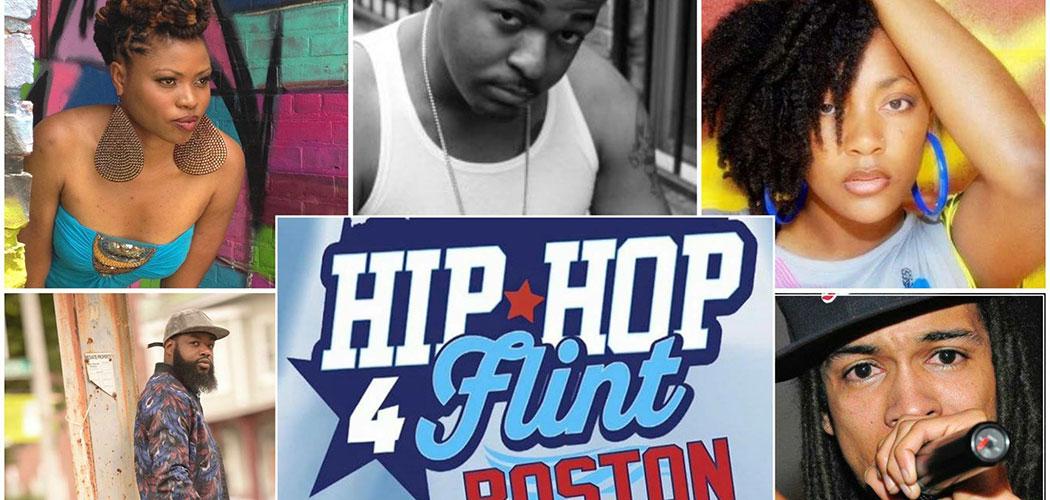 Hip Hop 4 Flint in Boston features (clockwise from top left): Natural Bliss, Daniel Laurent, Letia Larok, Raheem Jamal and Mark Merren. (Courtesy Hip Hop 4 Flint, Boston)