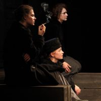 "(L-R) Ksenia Rappoport, Elizaveta Boyarskaya and Irina Tychinina in ""Three Sisters."" (Courtesy Viktor Vassiliev/ArtsEmerson)"