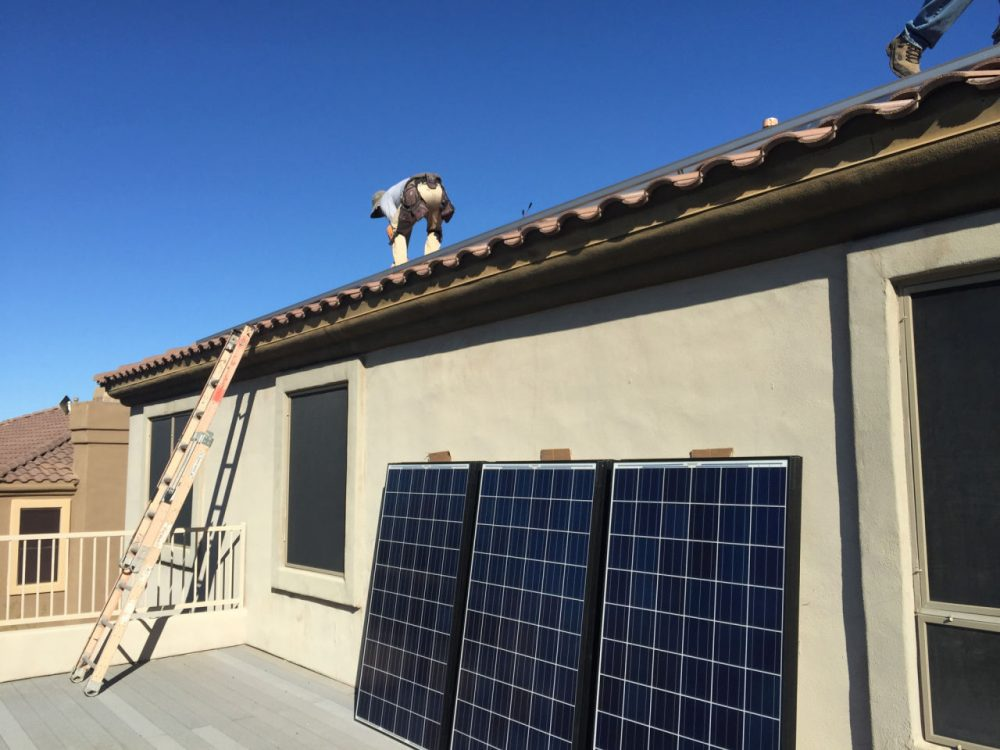 Nationally, the residential solar company is booming but if Nevada sets a precedent, that could affect more homes like this one in Scottsdale, Arizona, from installing panels. (Will Stone/KJZZ)