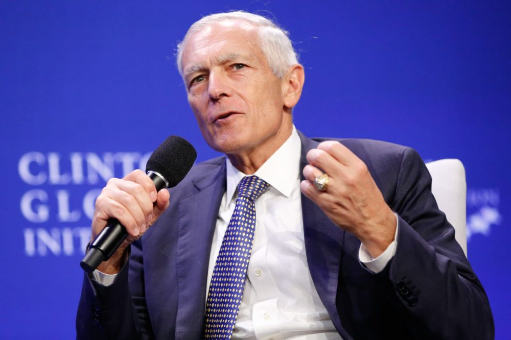 Retired U.S. Army General Wesley Clark pictured here at the Clinton Global Initiative 2015.  (JP Yim/Getty Images)