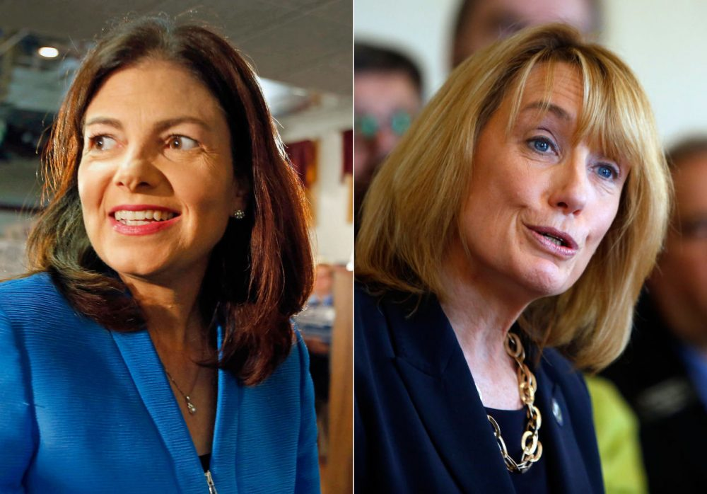 Democrats are hoping they can win control of the U.S. Senate, where Republicans hold a four-seat majority and face the challenge of defending 24 seats in November. Among the key races is the contest in New Hampshire, where popular Republican Sen. Kelly Ayotte, left, faces a series of threats, including a challenge from popular Democratic Gov. Maggie Hassan, right. (AP photos)